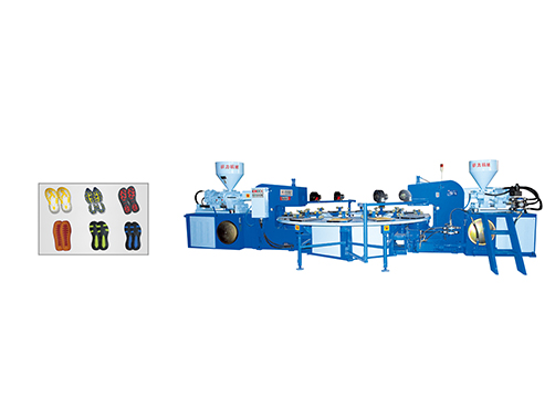 JIC512 Two Color TPR Sole Injection Molding Machine